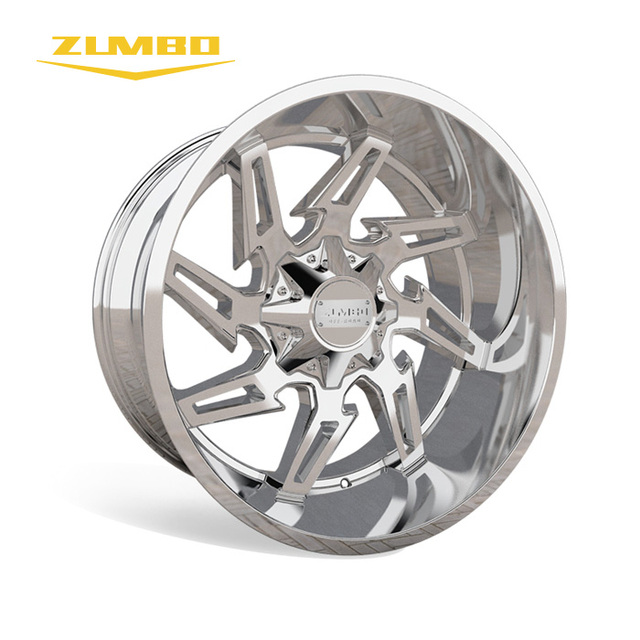 Zumbo-A0094 Semi Matt Black Mill Spoke alloy wheel from maiker for sale rims Chrome 20-26 Inch 20