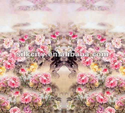 Fashion Satin Print Magic Silk Fabric