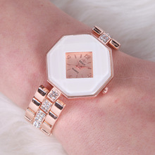 Best women's watch brands women crystal vogue watch leaf model quartz watch