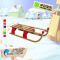 Wooden children snowsledge