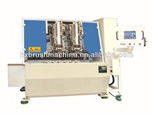 Two heads PP Plastic Broom Making Machine / Drilling and Tufting Combination Machine