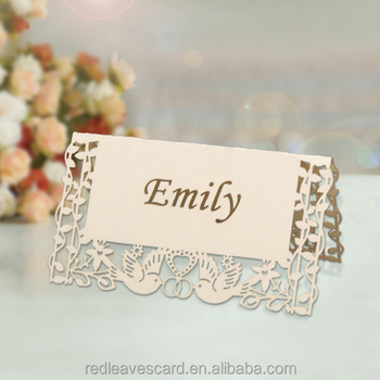Factory price! elegant table cards name card for wedding&party