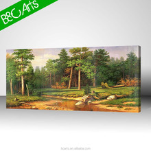 Modern landscape oil painting forest scenery wall art canvas print of trees