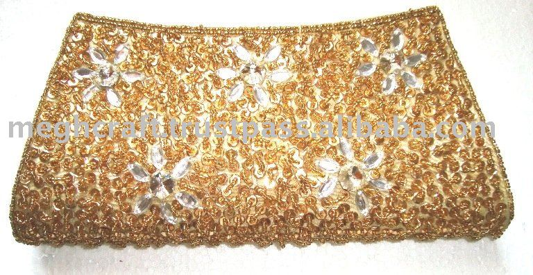 WHOLESALE BEADED DESIGNER CLUTCH PURSE-2016 BOLLYWOOD FASHION PURSES-PARTY CLUTCH PURSES-HANDMADE BEADED PURSE