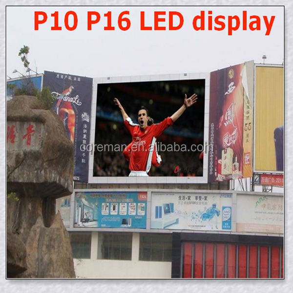 p10 p16 outdoor led billboard sign full color / P20 full color stable quality transparent LED display screen high definition