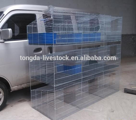 Best quality new design cool rabbit cages ISO certificate 3 tiers 12 cells commercial rabbit cages