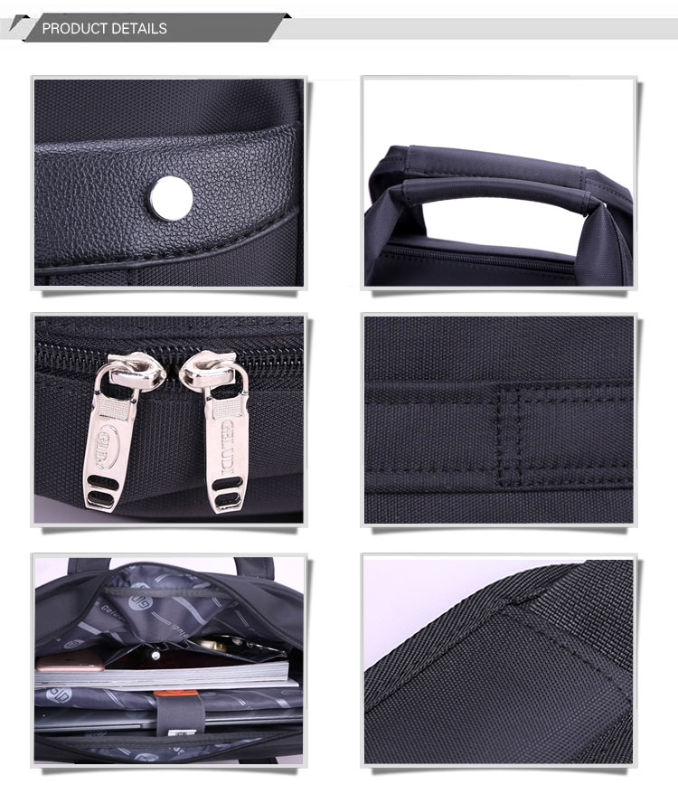 High Quality Black 15.6 inch Custom Shoulder Laptop bags