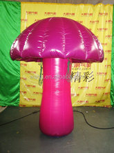 Hot selling special design inflatable pink mushroom for garden decor