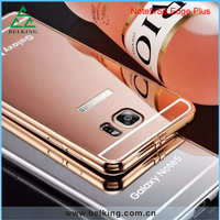 For Galaxy Note 5 Aluminum Metal bumper mirror cover case for Galaxy S6 Edge Plus