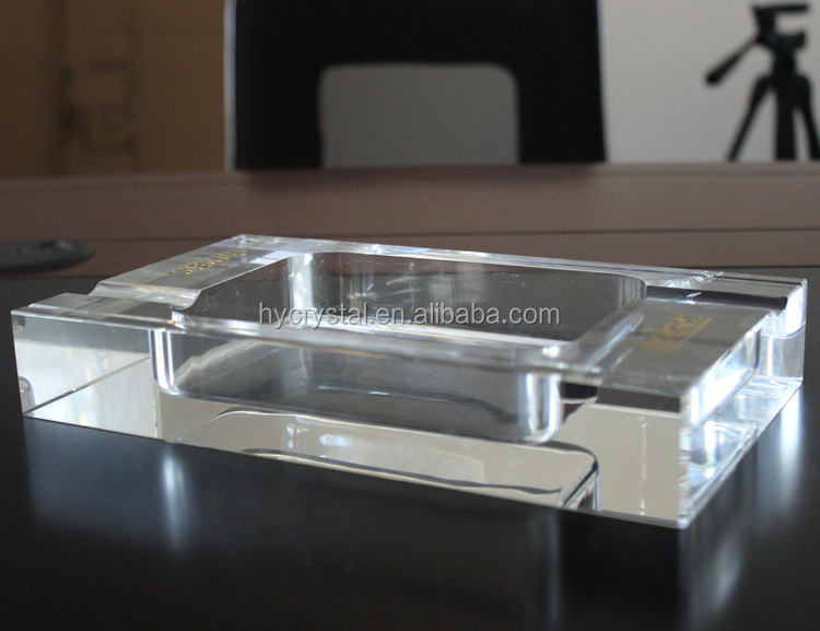 2017 wholesale high quality crystal glass cigar ashtray
