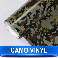 Very Cool Car Decoration White Camouflage Car Vinyl Film