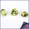 green natural peridot round diamond cut loose gemstones natural