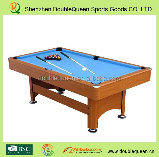 6ft/7ft pool soccer table /billiard table dimensions with good quality