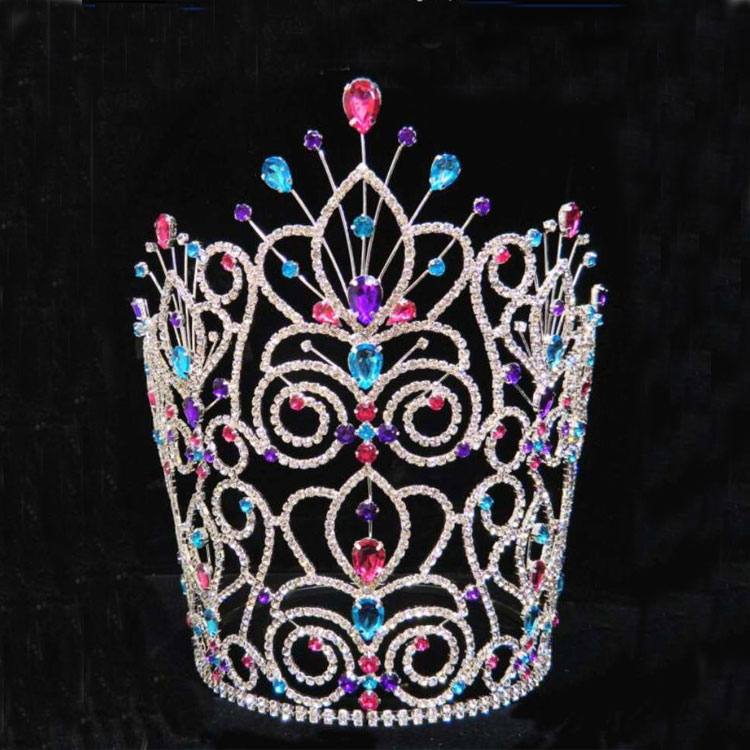 Hair accessories hair jewelry rhinestone strass miss world tiara gold plated jewelry wholesale crowns and tiaras