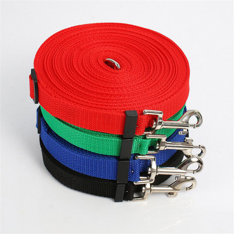 Nylon Adjustable Leash for Dogs Long Dog Pet Puppy Rope Training Lead Leash Chain Dog Leash 10m 15m 20m 30m 50m