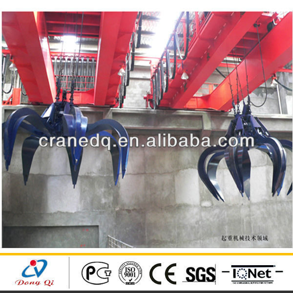 QZ Type Municipal Solid Waste Grab Bucket Overhead Crane
