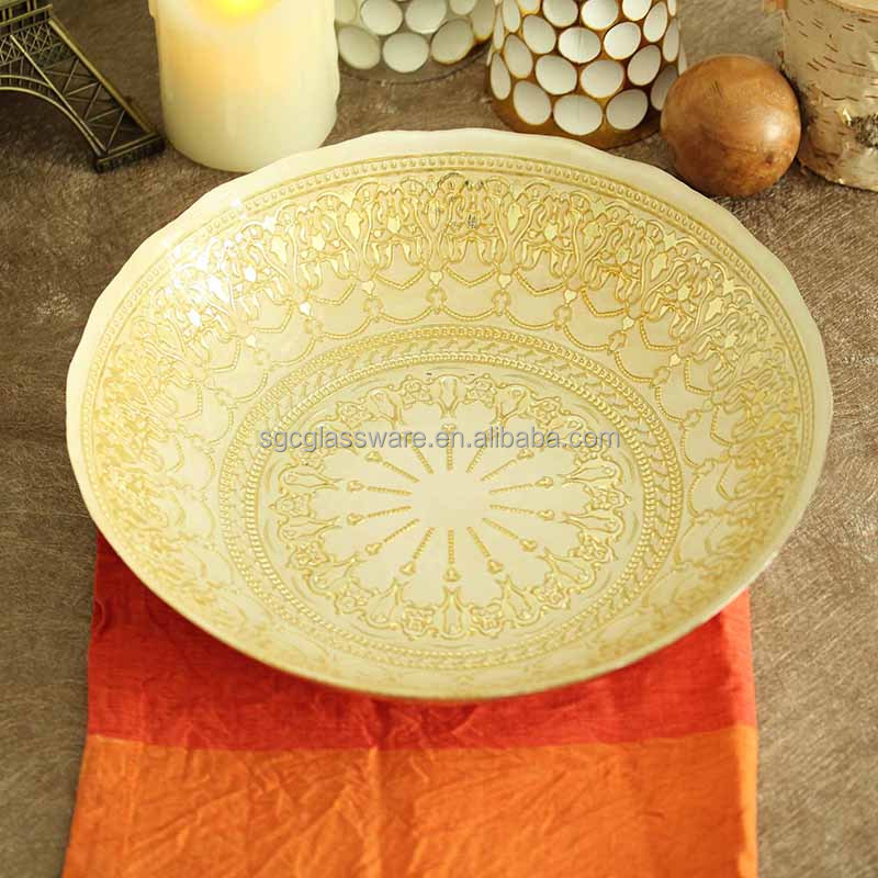 New design gold charger plates for wedding