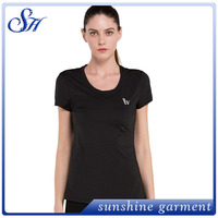2016 Wholesale Quick Dry Moisture Wicking Seamless Sport T-shirts Women T Shirt