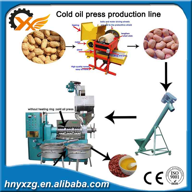 Low investment 6YL-130 150 cold oil press machine production line