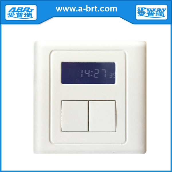 Two Gang Digital Timer Switch with Keypad Panel