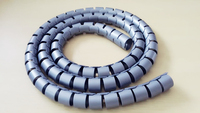 Grey& PE adurable spiral wrapping band for protecting electrical wires