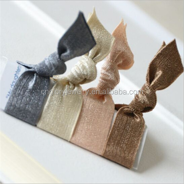 Fashionable elastic ribbon for knotted hair ties