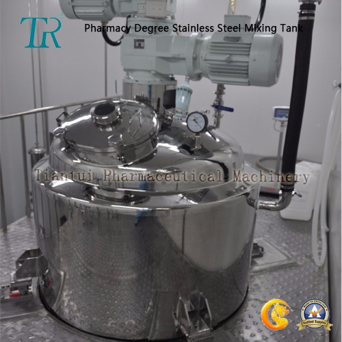 Hot Water Jacketed Stainless Steel tank mixing