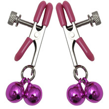 Fetish Bondage Adult Game Toys Strong Metal Nipple Clamps Clips Labia Clamps with 2 Bells Breast Massage Sex Products for Women