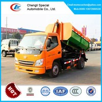 T-king hook lift garbage truck hydraulic lifter garbage truck 3-5cbm for sale