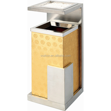Factory price stainless steel dustbin waste trash ashtray rubbish bins