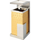 hot sale hotel standing stainless steel ashtray rubbish bin
