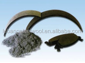 Brake Shoe Chopped Steel Wool Friction Material