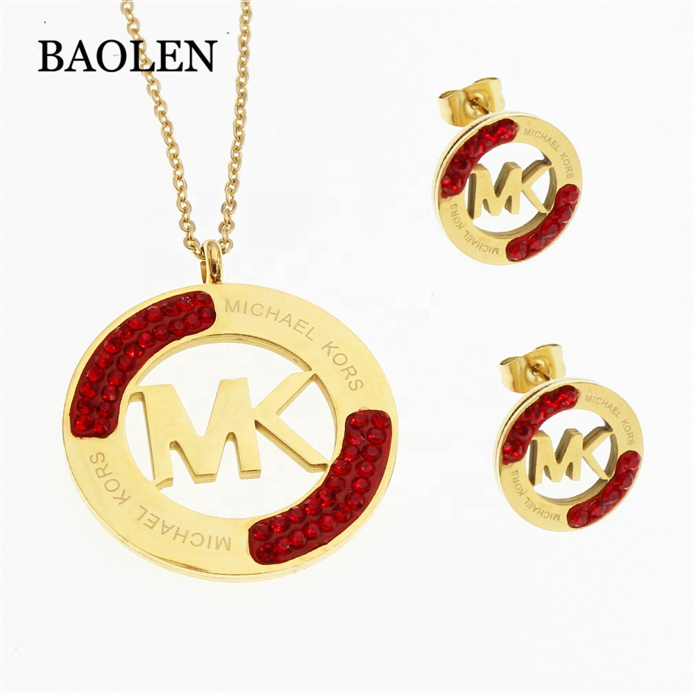Wholesale cheaper exceed <strong>1000</strong> models round colorful womens set stainless steel jewelry set mexico jewelry