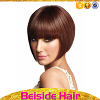 Popular good quality short straight bob style wig bob wig synthetic hair women wigs