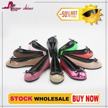 STSS16-003 wholesales patent pu girls flat shoes stock shoes