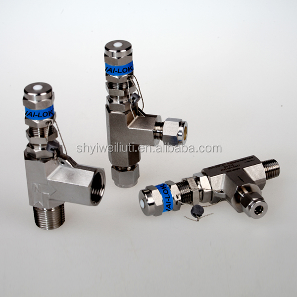 STS316 pressure relief valve adjustable