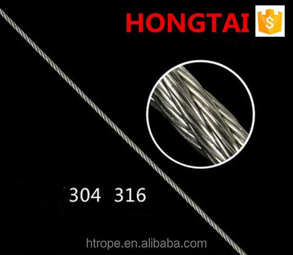 factory price ss Wire Rope 1x19 BS,ASTM,JIS,GB,DIN,AISI Standard