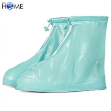 Women and Men Waterproof Plastic Shoes Cover Rain Snow Boots Covers Reusable Slip-resistant Rain Covers