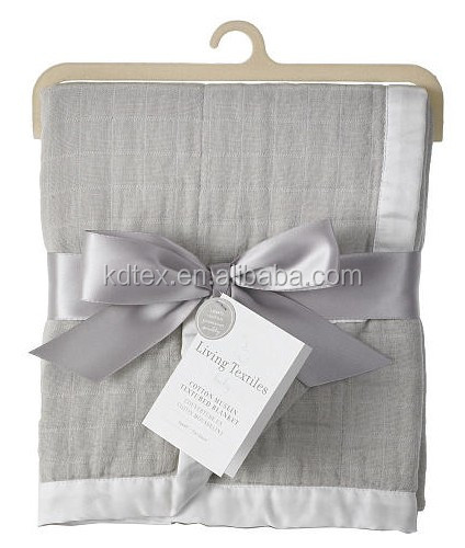 "Hot Sales 100% Cotton Large Soft Coloured Muslin Square Burp Cloth 47x47"" After Washing"