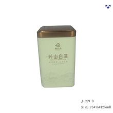ECO-friendly square shape small cute tea tin box