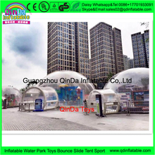 Transparent dome inflatable cube tent,sleeping pod bubble tent,inflatable camping tent