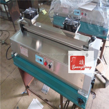 Desk hot melt gluing machine/glue machine with speed control