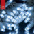 commericial outdoor italian string lights 100 LEDs, white rubber cable