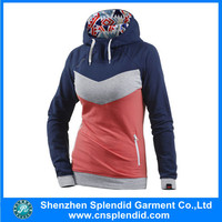 Custom cheap plain hooded sweat suits for women
