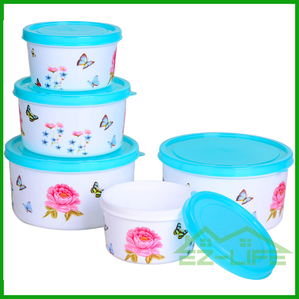 BPA free microwave safe food grade plastic kitchen food storage containers 3 pcs/set