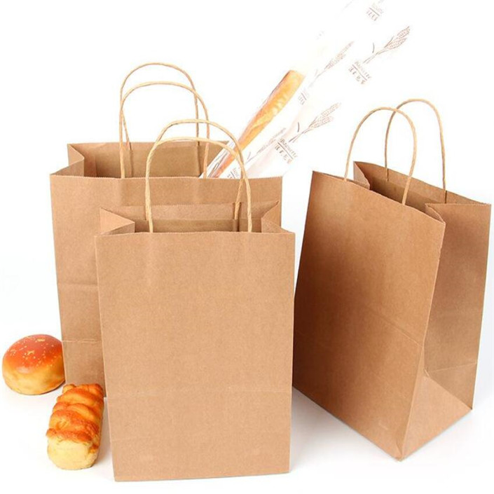 Health care product handbag Customized shopping kraft paper bag with logo