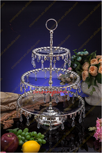 Amazing design! 3-tier crystal glass cake stand for wedding decoration