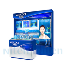 cosmetics store acrylic show case Retail display lighting makeup display stand
