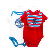 hot sale hight quality organic cotton pure color simple letter baby onesie