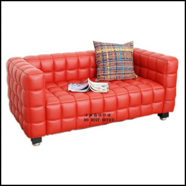 Office Lounge Sofa Waiting Room Sofa Red Couch